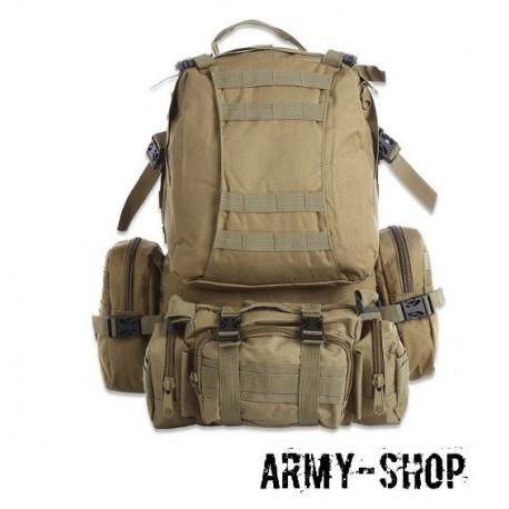Тактический рюкзак с тремя подсумками Molle Assault Tactical Light (реплика)/койот
