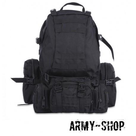 Тактический рюкзак с тремя подсумками Molle Assault Tactical Light (реплика)/черный