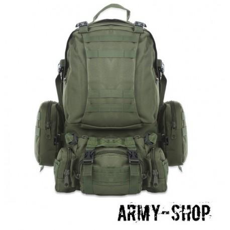 Тактический рюкзак с тремя подсумками Molle Assault Tactical Light (реплика)/олива