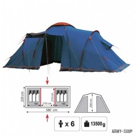 Туристическая палатка Sol Castle 6