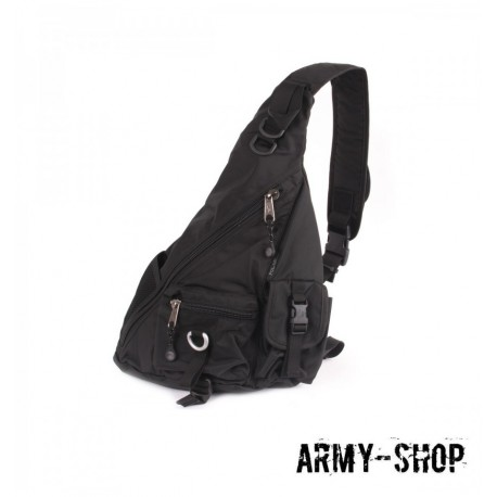 Рюкзак Polar П1378-05 черный однолямочный