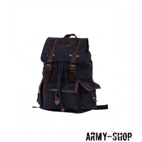 Рюкзак Polar П3303-05 черный брезент