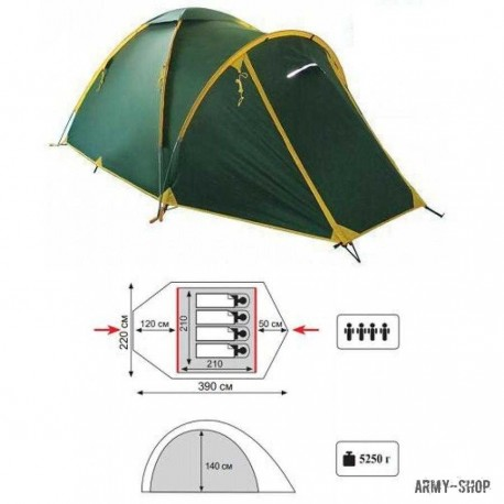 Туристическая палатка Tramp Space 4