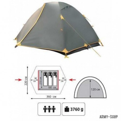 Туристическая палатка Tramp Nishe 3