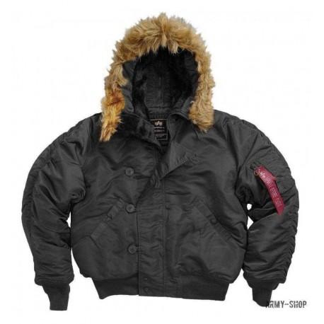 Куртка зимняя Alpha Industries N-2B Parka Black