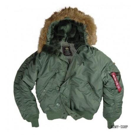 Куртка зимняя Alpha Industries N-2B Parka Sage Green