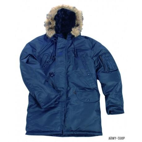 Куртка-аляска Mil-Tec N3B blue