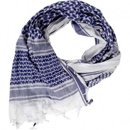 Шарф(Арафатка, Шемаг)110x110 бело-синяя