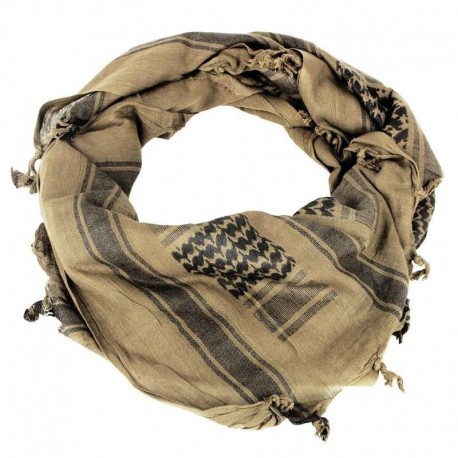 Шарф(Арафатка, Шемаг)110x110 бежево-черная