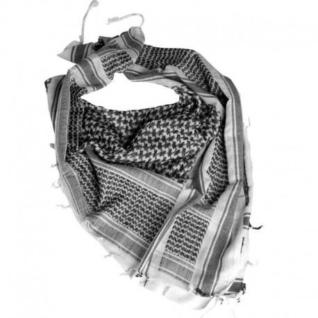 Шарф(Арафатка, Шемаг)110x110 бело-черная