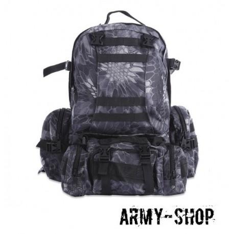 Тактический рюкзак с тремя подсумками Molle Assault Tactical Light (реплика)/питон ночь