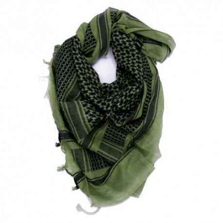 Шарф(Арафатка, Шемаг)110x110 зелено-черная
